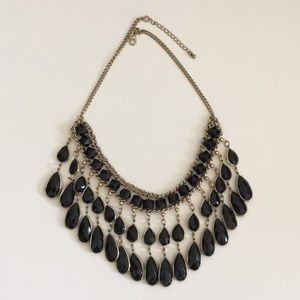 1920s Style Costume Jewelry Black & gold necklace